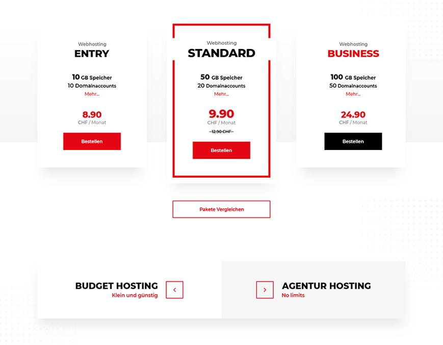 Hostfactory webdesign Innerseite 1