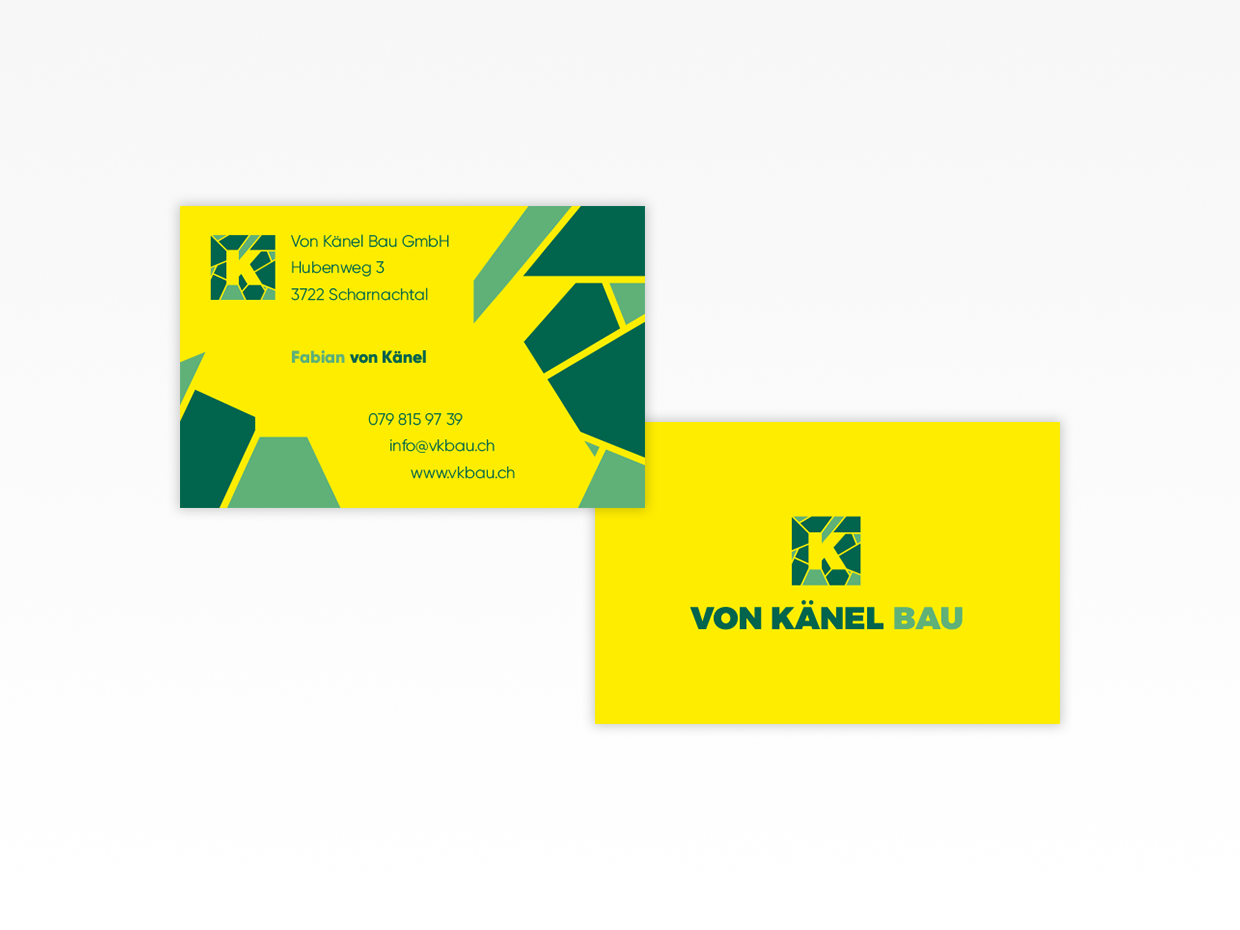 Business cards Von Känel Bau